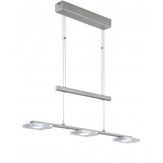 WOFI 7254.03.64.1000 | Vileta Wofi visilice svjetiljka balansna - ravnotežna, sa visinskim podešavanjem 3x LED 1080lm 3000K poniklano mat