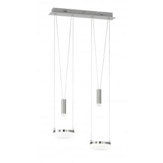 WOFI 7263.04.54.6000 | Jette Wofi visilice svjetiljka balansna - ravnotežna, sa visinskim podešavanjem, jačina svjetlosti se može podešavati 2x LED 1200lm + 2x LED 120lm 3000K poniklano mat, krom, bijelo