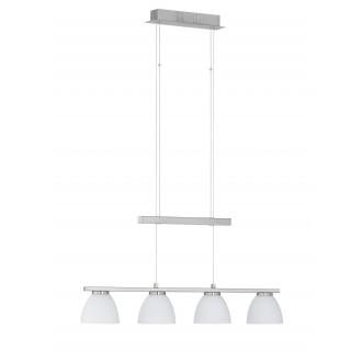 WOFI 7270.04.64.0000 | AvaW Wofi visilice svjetiljka balansna - ravnotežna, sa visinskim podešavanjem, jačina svjetlosti se može podešavati 4x LED 1640lm 3000K poniklano mat, bijelo