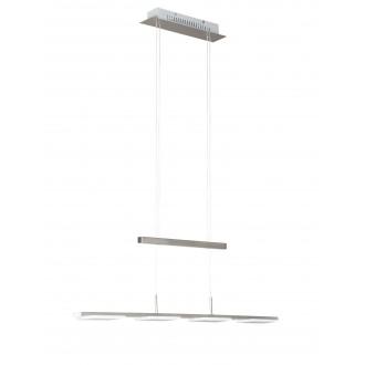WOFI 734504640500 | Verso Wofi visilice svjetiljka balansna - ravnotežna, sa visinskim podešavanjem 4x LED 1200lm 3000K poniklano mat