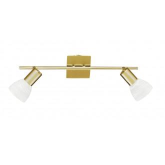 WOFI 7354.02.32.1000 | Angola Wofi zidna svjetiljka s prekidačem za štednu žarulju 2x E14 zlato mat
