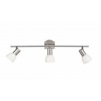 WOFI 7354.03.64.0000 | Angola Wofi zidna, stropne svjetiljke svjetiljka za štednu žarulju 3x E14 poniklano mat
