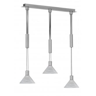 WOFI 743603640000 | Maine Wofi visilice svjetiljka balansna - ravnotežna, sa visinskim podešavanjem 3x E14 1410lm 3000K poniklano mat, bijelo