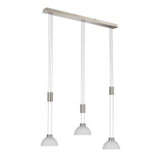 WOFI 7450.03.64.0000 | ClassW Wofi visilice svjetiljka balansna - ravnotežna, sa visinskim podešavanjem, jačina svjetlosti se može podešavati 3x LED 1350lm 3000K poniklano mat, bijelo