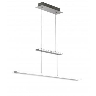 WOFI 7509.02.54.0000 | Mission Wofi visilice svjetiljka balansna - ravnotežna, sa visinskim podešavanjem 1x LED 2100lm 3000K poniklano mat, krom, bijelo