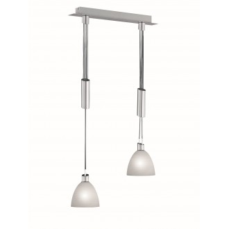 WOFI 7722.02.64.0006 | Savannah Wofi visilice svjetiljka balansna - ravnotežna, sa visinskim podešavanjem 2x E14 940lm 3000K poniklano mat