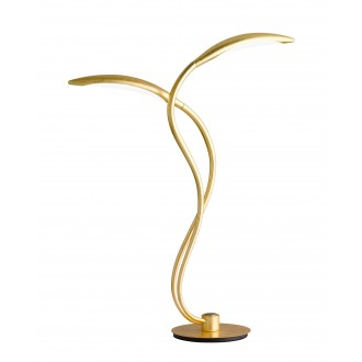 WOFI 8326.02.15.5000 | Hampton Wofi stolna svjetiljka 55cm tvlaknoepeni prekidač jačina svjetlosti se može podešavati 2x LED 750lm 3000K zlatno