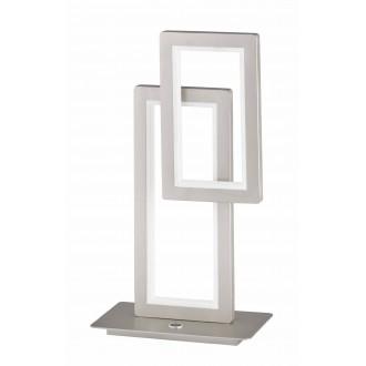 WOFI 8531.02.64.8000   Viso Wofi stolna svjetiljka 46cm tvlaknoepeni prekidač jačina svjetlosti se može podešavati 1x LED 1900lm 3000K poniklano mat