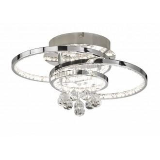WOFI 9103.01.01.8420 | Medley Wofi stropne svjetiljke svjetiljka s impulsnim prekidačem jačina svjetlosti se može podešavati 1x LED 2500lm 3000K krom