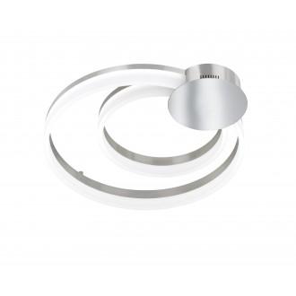 WOFI 9117.01.54.0000 | Indigo-Soul Wofi stropne svjetiljke svjetiljka jačina svjetlosti se može podešavati 1x LED 4200lm 3000K poniklano mat, bijelo