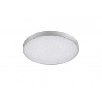 WOFI 9135.01.70.7000 | Glam Wofi stropne svjetiljke svjetiljka okrugli daljinski upravljač jačina svjetlosti se može podešavati, sa podešavanjem temperature boje 1x LED 3100lm 2700 <-> 6500K srebrno, bijelo, učinak kristala