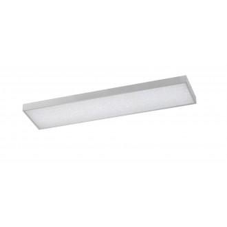 WOFI 9135.01.70.7300 | Glam Wofi stropne svjetiljke svjetiljka pravotkutnik daljinski upravljač jačina svjetlosti se može podešavati, sa podešavanjem temperature boje 1x LED 3600lm 2700 <-> 6500K srebrno, bijelo, učinak kristala