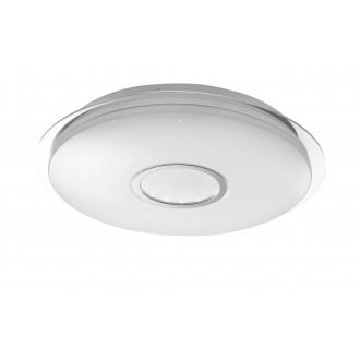 WOFI 917701066000   Dorp Wofi stropne svjetiljke svjetiljka okrugli daljinski upravljač jačina svjetlosti se može podešavati, sa podešavanjem temperature boje 1x LED 2480lm 3000 <-> 6400K bijelo, srebrno, učinak kristala