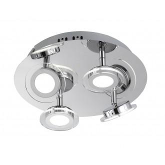 WOFI 9195.04.01.0000 | ChloeW Wofi spot svjetiljka elementi koji se mogu okretati 4x LED 1200lm 3000K krom, bijelo, prozirno