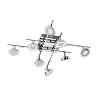 WOFI 9195.08.01.0000 | ChloeW Wofi spot svjetiljka elementi koji se mogu okretati 8x LED 2400lm 3000K krom, bijelo, prozirno