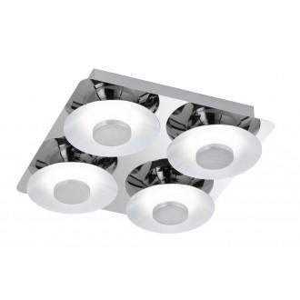 WOFI 9216.04.01.0000 | SpaceW Wofi stropne svjetiljke svjetiljka jačina svjetlosti se može podešavati 4x LED 2200lm 3000K krom, bijelo
