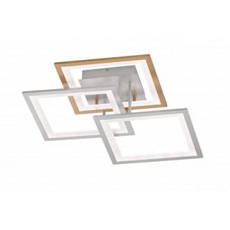 WOFI 9243.03.44.8000 | Modesto-WO Wofi stropne svjetiljke svjetiljka s impulsnim prekidačem jačina svjetlosti se može podešavati 1x LED 2500lm 3000K srebrno, zlatno