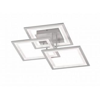 WOFI 9243.03.70.8300 | Modesto-WO Wofi stropne svjetiljke svjetiljka s impulsnim prekidačem jačina svjetlosti se može podešavati 1x LED 2500lm 3000K srebrno