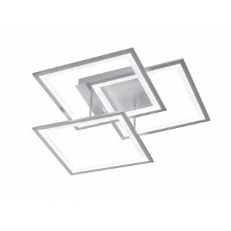 WOFI 9243.03.70.8400 | Modesto-WO Wofi stropne svjetiljke svjetiljka s impulsnim prekidačem jačina svjetlosti se može podešavati 1x LED 3000lm 3000K srebrno