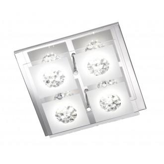 WOFI 9272.04.01.0000 | Reims Wofi stropne svjetiljke svjetiljka 4x LED 1000lm 3000K krom, prozirno, opal