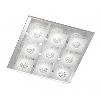 WOFI 9272.09.01.0000 | Reims Wofi stropne svjetiljke svjetiljka 9x LED 2250lm 3000K krom, prozirno, opal