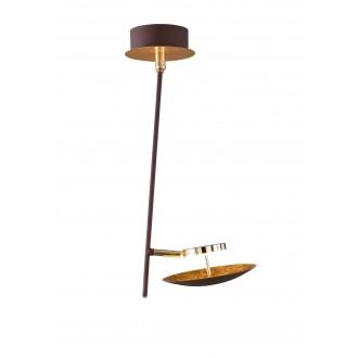 WOFI 9287.01.15.6000 | Pierre-Salem-Nogan Wofi stropne svjetiljke svjetiljka elementi koji se mogu okretati 1x LED 400lm 3000K zlatno, smeđe