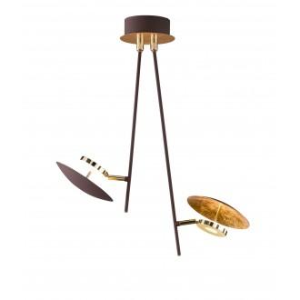 WOFI 9287.02.15.6000 | Pierre-Salem-Nogan Wofi stropne svjetiljke svjetiljka elementi koji se mogu okretati 2x LED 800lm 3000K zlatno, smeđe