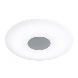 WOFI 9350.01.64.0400 | Sila Wofi stropne svjetiljke svjetiljka daljinski upravljač jačina svjetlosti se može podešavati, sa podešavanjem temperature boje 1x LED 2500lm 3000 <-> 6000K poniklano mat, bijelo