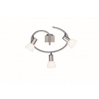 WOFI 9354.03.64.0000 | Angola Wofi zidna, stropne svjetiljke svjetiljka za štednu žarulju 3x E14 poniklano mat
