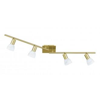 WOFI 9354.04.32.1000 | Angola Wofi zidna, stropne svjetiljke svjetiljka elementi koji se mogu okretati, za štednu žarulju 4x E14 zlato mat
