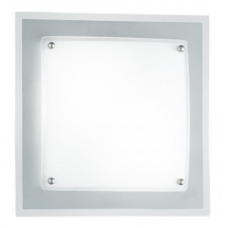 WOFI 9419.02.64.0280 | Kanpur Wofi zidna, stropne svjetiljke svjetiljka za štednu žarulju 2x E14 poniklano mat