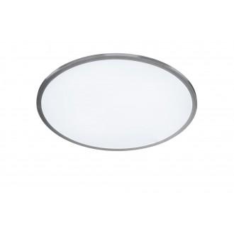 WOFI 9457.01.70.7400 | LiNoX Wofi stropne svjetiljke svjetiljka okrugli daljinski upravljač jačina svjetlosti se može podešavati, sa podešavanjem temperature boje 1x LED 2200lm 2700 <-> 6500K srebrno, bijelo
