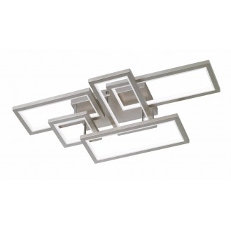 WOFI 9531.05.64.8000   Viso Wofi stropne svjetiljke svjetiljka s impulsnim prekidačem jačina svjetlosti se može podešavati 1x LED 7000lm 3000K poniklano mat