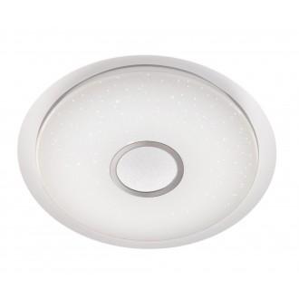 WOFI 9540.01.06.0800 | Kiana Wofi stropne svjetiljke svjetiljka okrugli daljinski upravljač jačina svjetlosti se može podešavati, sa podešavanjem temperature boje 1x LED 5000lm 3000 <-> 6000K bijelo, srebrno, učinak kristala
