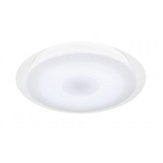 WOFI 9540.01.06.2400 | Kiana Wofi stropne svjetiljke svjetiljka okrugli daljinski upravljač jačina svjetlosti se može podešavati, sa podešavanjem temperature boje 1x LED 2000lm 3000 <-> 6000K IP40 bijelo, učinak kristala