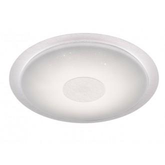 WOFI 9540.01.06.2600   Kiana Wofi stropne svjetiljke svjetiljka okrugli daljinski upravljač jačina svjetlosti se može podešavati, sa podešavanjem temperature boje 1x LED 3300lm 2800 <-> 6000K IP40 bijelo, učinak kristala