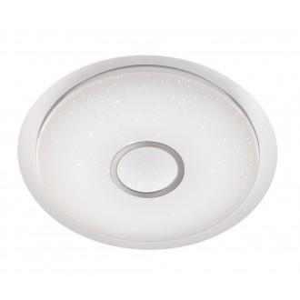 WOFI 955501066100   Minor Wofi stropne svjetiljke svjetiljka okrugli daljinski upravljač jačina svjetlosti se može podešavati, sa podešavanjem temperature boje 1x LED 2300lm 2900 <-> 5800K bijelo, srebrno, učinak kristala