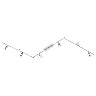 WOFI 9669.06.64.0000 | Nini Wofi zidna, stropne svjetiljke svjetiljka elementi koji se mogu okretati 6x GU10 1500lm 3000K poniklano mat