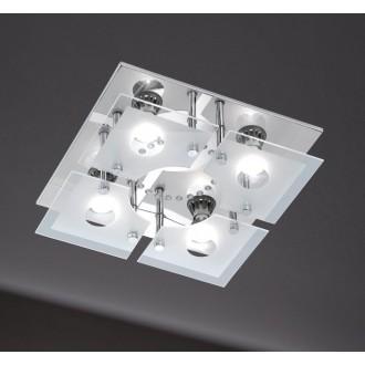 WOFI 986105010000 | Cali Wofi stropne svjetiljke svjetiljka daljinski upravljač jačina svjetlosti se može podešavati, promjenjive boje 4x GU10 1200lm + 1x LED 3000K krom, bijelo, prozirno