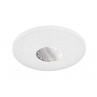 WOFI 993401066000   Moris Wofi stropne svjetiljke svjetiljka okrugli daljinski upravljač jačina svjetlosti se može podešavati, sa podešavanjem temperature boje 1x LED 1400lm 3000 <-> 6400K bijelo, srebrno, učinak kristala