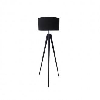 ZUMA LINE 170429F-BK | Maresca Zuma Line podna svjetiljka okrugli 143cm s prekidačem 1x E27 crno mat, bijelo