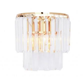 ZUMA LINE 17106/2W-GLD   Amedeo Zuma Line zidna svjetiljka 2x E14 zlatno, prozirno