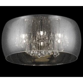 ZUMA LINE C0076-01D-F4K9 | RainZL Zuma Line stropne svjetiljke svjetiljka okrugli 1x G9 krom, dim, prozirno