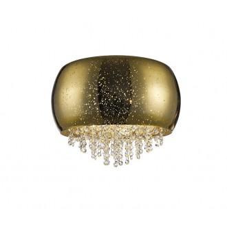 ZUMA LINE C0076-05K-F4GQ | Vista Zuma Line stropne svjetiljke svjetiljka okrugli 5x G9 zlatno, kristal, svjetlucavi