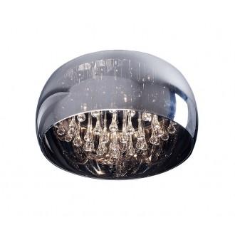 ZUMA LINE C0076-05L | CrystalZL Zuma Line stropne svjetiljke svjetiljka okrugli 5x G9 krom, dim, prozirno