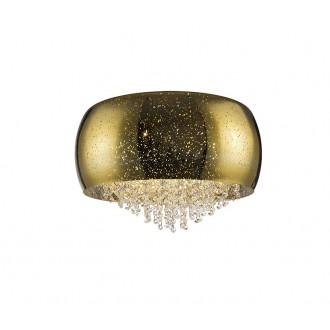 ZUMA LINE C0076-06K-F4GQ | Vista Zuma Line stropne svjetiljke svjetiljka okrugli 6x G9 zlatno, kristal, svjetlucavi