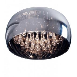 ZUMA LINE C0076-06X | CrystalZL Zuma Line stropne svjetiljke svjetiljka okrugli 6x G9 krom, dim, prozirno