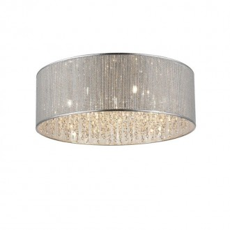 ZUMA LINE C0173-07W | Blink Zuma Line stropne svjetiljke svjetiljka okrugli 7x G9 krom, srebrno, svjetlucavi