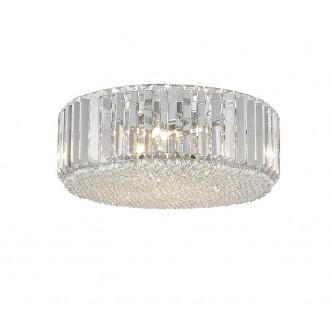 ZUMA LINE C0360-05B-F4AC | Prince Zuma Line stropne svjetiljke svjetiljka okrugli 5x G9 krom, prozirno, kristal