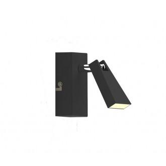 ZUMA LINE CK99603A-1B | Spazio Zuma Line spot svjetiljka elementi koji se mogu okretati 1x LED 400lm 3000K crno mat